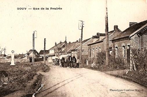 Gouy (Aisne) CPA rue de la prairie