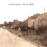 Gouy (Aisne) CPA rue du moulin