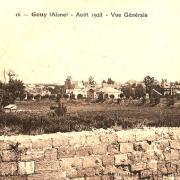 Gouy (Aisne) CPA vue générale en 1923