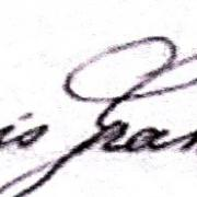 François Jean Baptiste Gransard, sa signature en 1887