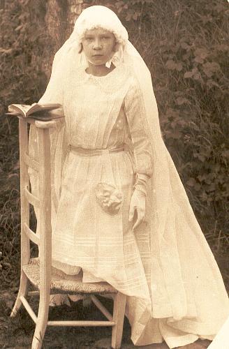Marcelle Renée Gransard, communion solennelle à Ancourteville en 1933
