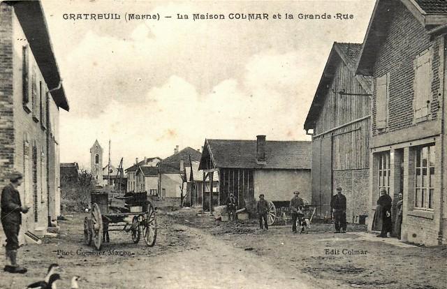 Gratreuil (51) La Grande Rue CPA