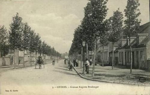 Guines pas de calais l avenue auguste boulanger cpa