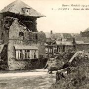 Haussy 59 le moulin en ruines 1914 cpa