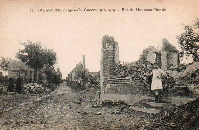 Haussy 59 les ruines 1914 cpa
