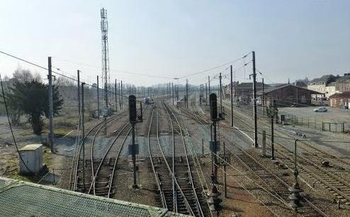 Hirson (Aisne) Les aiguillages du chemin de fer