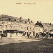 Hirson (Aisne) CPA l'avenue de la gare