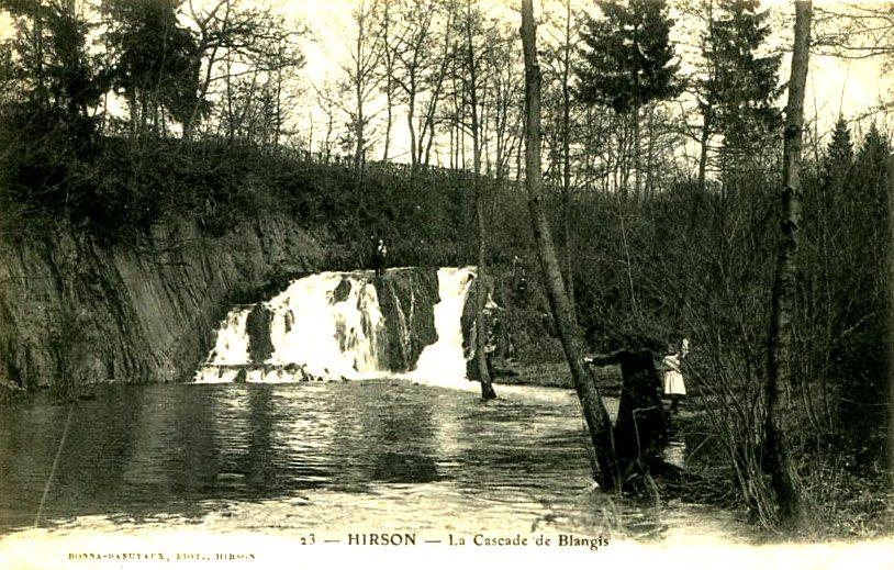 Hirson (Aisne) CPA Blangis la cascade