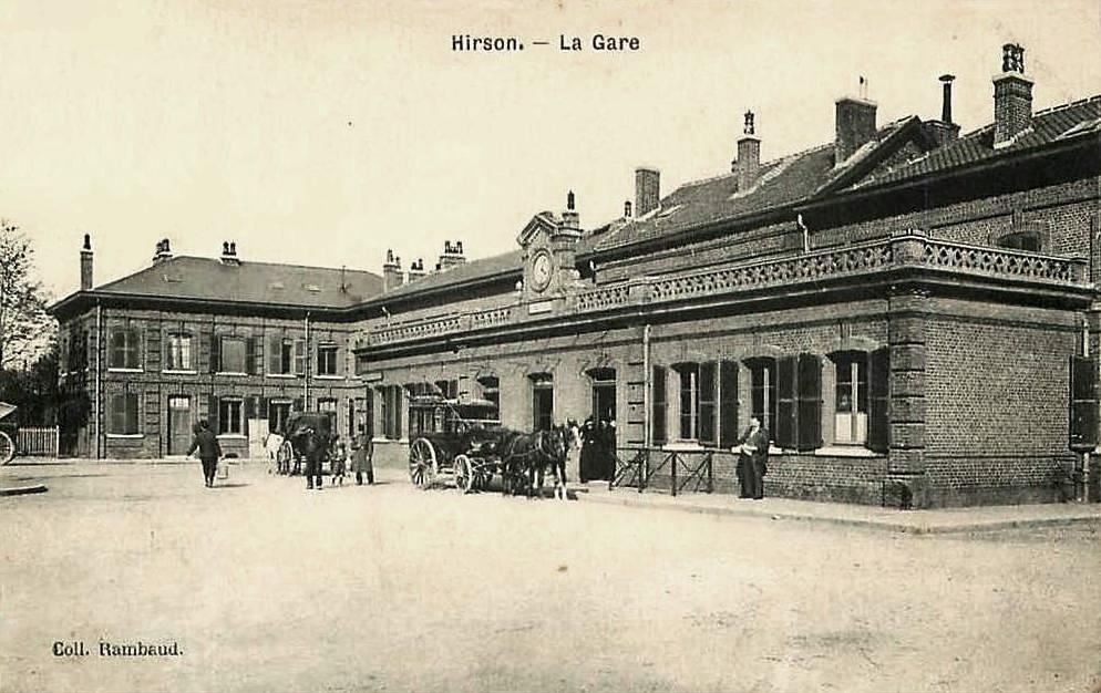 Hirson (Aisne) CPA la gare en 1908