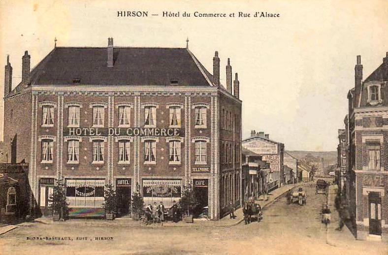 Hirson (Aisne) CPA l'hôtel du Commerce