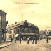 Hirson (Aisne) CPA la place de l'hôtel de ville
