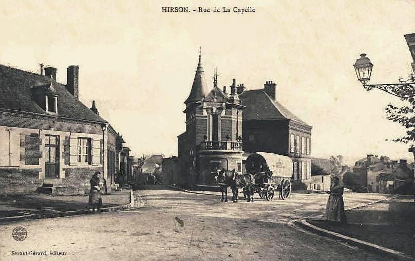 Hirson (Aisne) CPA la rue de la Capelle