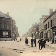 Hirson (Aisne) CPA la rue de Vervins