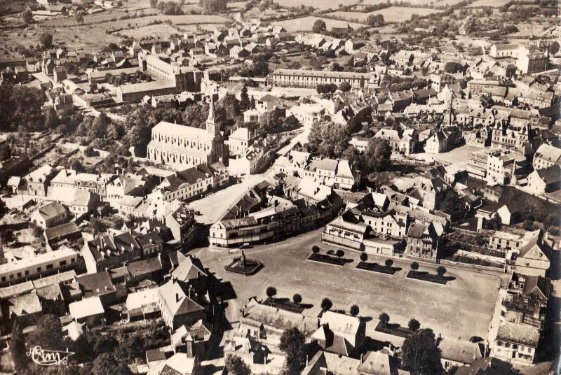 Hirson (Aisne) CPA Vue aérienne vers 1950