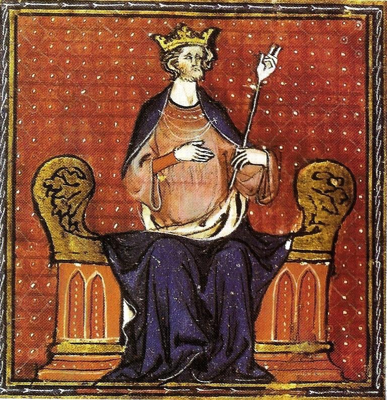Hugues Capet, enluminure du XIIIe
