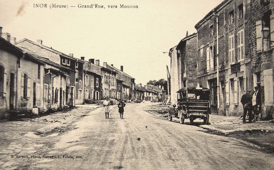 Inor (Meuse) La Grande rue CPA