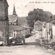 Inor (Meuse) La rue de l'église CPA