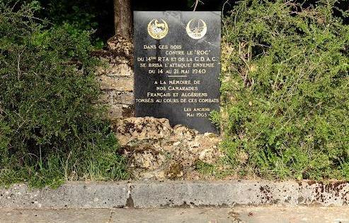 Inor (Meuse) La stèle du 14e RTA