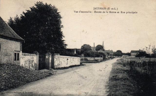 Jaudrais (28) La rue principale CPA