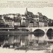 Joigny (89) Les quais et le pont CPA