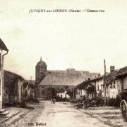 Juvigny-sur-Loison (Meuse) La Grande rue CPA