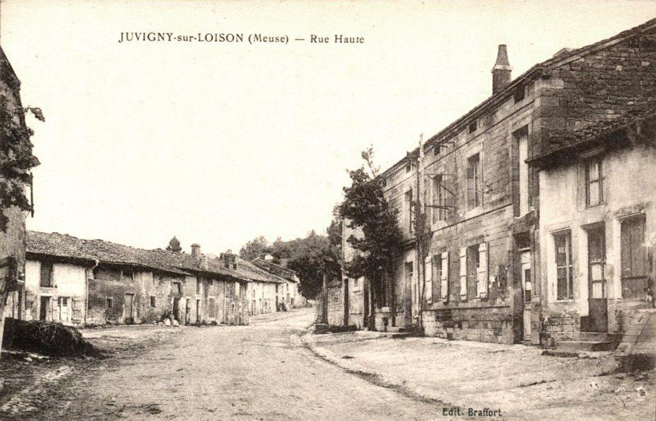 Juvigny-sur-Loison (Meuse) La rue Haute CPA