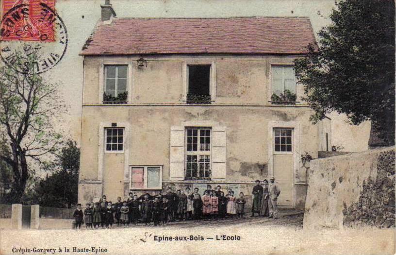 L'Epine-aux-Bois (Aisne) CPA Ecole