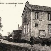 L'Epine-aux-Bois (Aisne) CPA Mairie et école