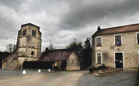 L'Epine-aux-Bois (Aisne) Eglise et mairie
