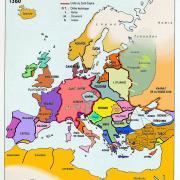 L'Europe en 1360, à la guerre de Cent Ans