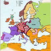 L'Europe en 1648, au Traité de Paix de Munster
