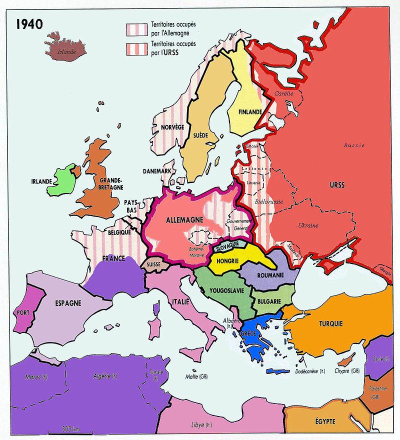 L'Europe en 1940, pacte germano-soviétique