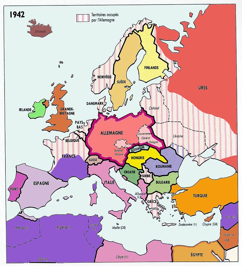 L'Europe en 1942, Ordre Nouveau hitlérien