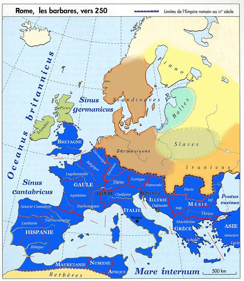 L'Europe en 250, Rome et les Barbares