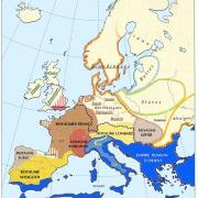 L'Europe vers 560, royaumes Barbares