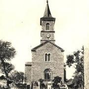 La Bastide-Pradines (Aveyron) CPA L'église Saint-Pierre en 1905
