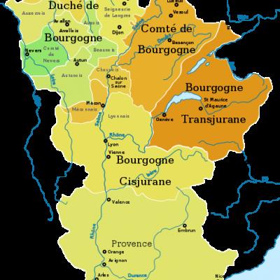 Cartes de la Bourgogne