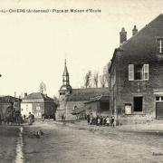La Ferté-sur-Chiers (08) Mairie, église, école CPA