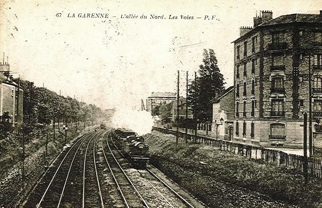 La garenne colombes 92 l avenue du general leclerc allee du nord le train cpa