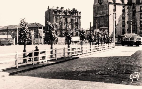 La garenne colombes 92 la place de belgique cpa