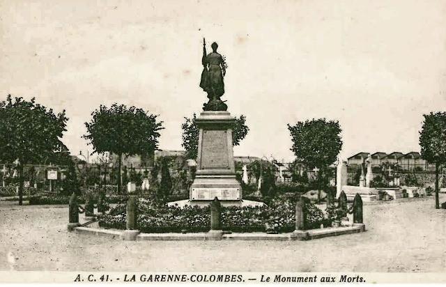La garenne colombes 92 le cimetiere monuments aux morts cpa