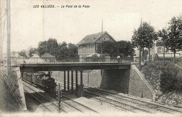 La garenne colombes 92 le pont de la puce en 1913 cpa