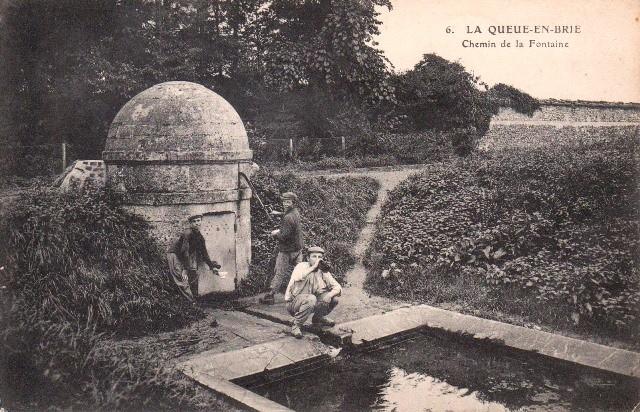 La queue en brie val de marne la fontaine cpa