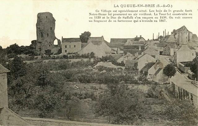 La queue en brie val de marne la tour avant 1867 cpa