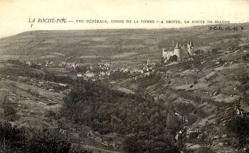 La Rochepot (Côte d'Or) Vue générale CPA