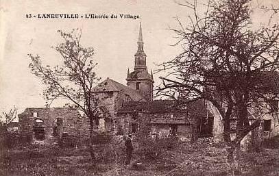 Laneuville sur meuse meuse l eglise saint nicolas apres 1914 cpa