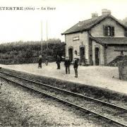 Lavilletertre oise cpa gare 1919