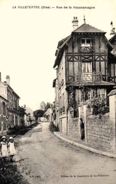Lavilletertre oise cpa rue de la houssemagne