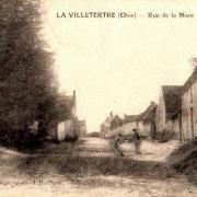 Lavilletertre oise cpa rue de la mare en 1922