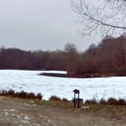 Lavilletertre oise etang gele janvier